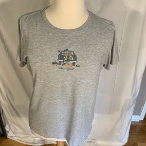Life is good tailgating tee. XL